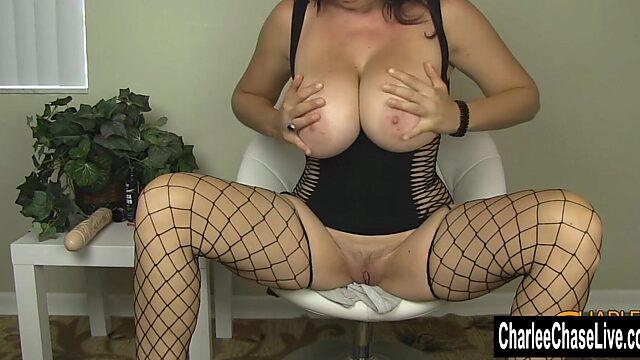 big tits stockings solo