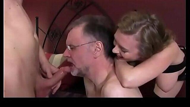 husband sucks cock