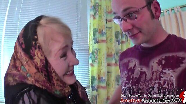 granny cum in mouth