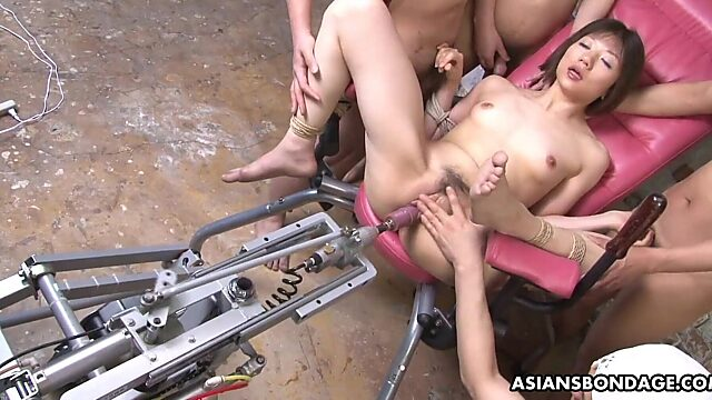 tied and machine fucked