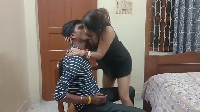 indian aunty with boy