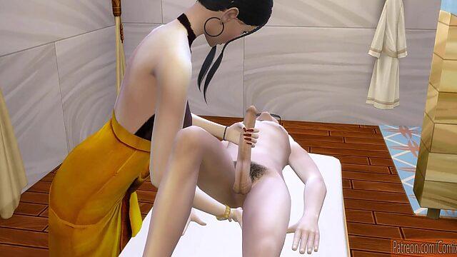 mature japanese massage