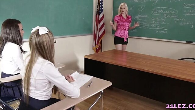 young lesbian student with lesbian teacher