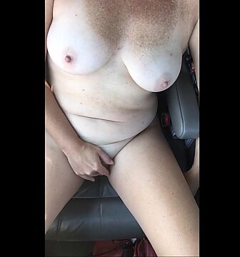 exhibitionist wife car