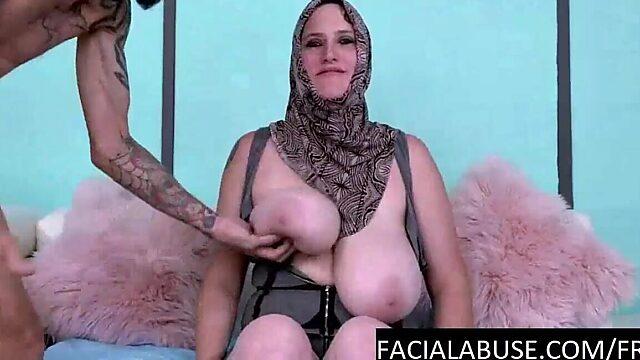 slapping tits