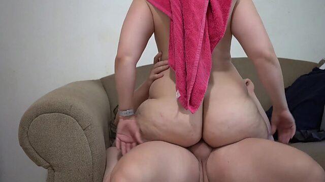 big booty white girl riding