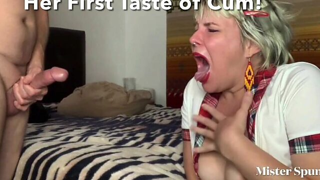 unexpected cum in mouth