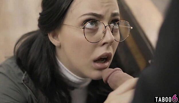 glasses blowjob