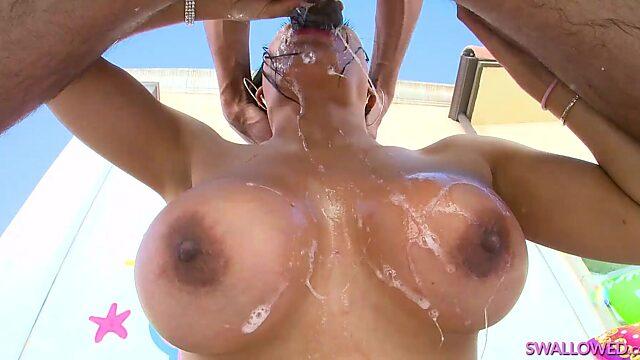 pov big tits deepthroat swallow