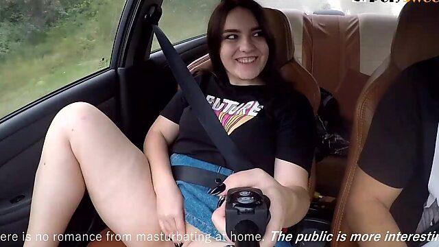 masturbating in car