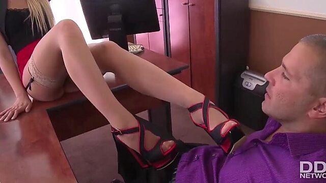 cum on stocking feet