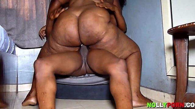 old woman black