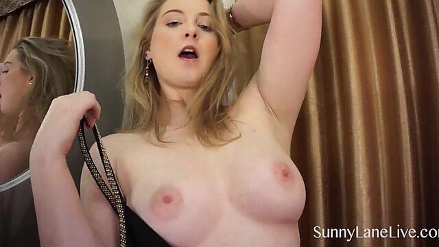 sunny solo masturbation