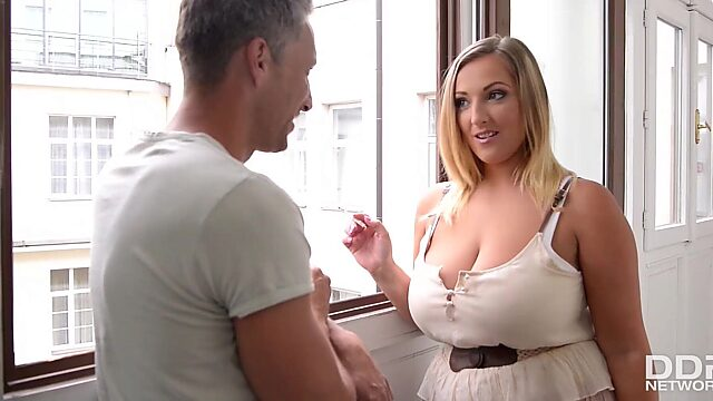 big tits smoking